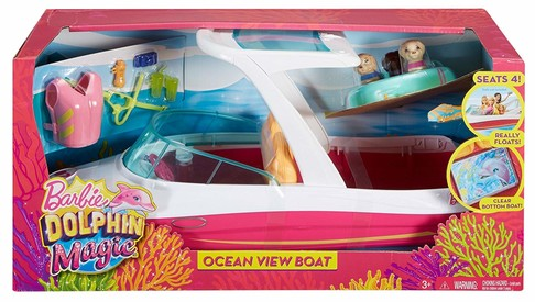 Игровой набор Катер для Барби Магия Дельфинов Barbie Dolphin Magic Ocean View Boat Playset FBD82 изображение 3