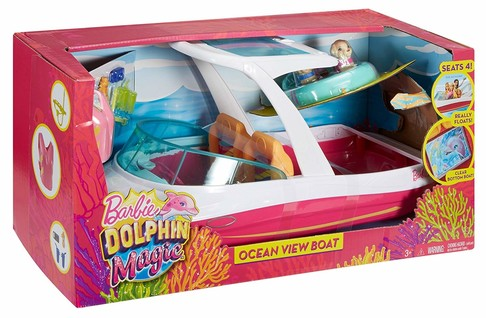 Игровой набор Катер для Барби Магия Дельфинов Barbie Dolphin Magic Ocean View Boat Playset FBD82 изображение 4